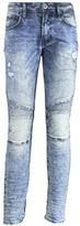 Buffalo David Bitton Men's Max-x Skinny Leg Stretch Denim Fashion Grey Moto Jean