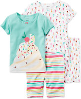 Carter's 4-Pc. Ice Cream Pajama Set, Toddler Girls (2T-4T)