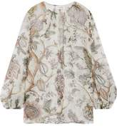 Zimmermann Karmic Printed Silk Blouse