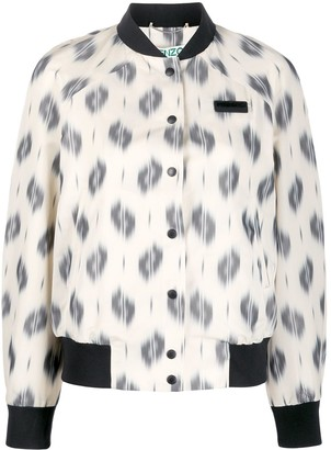 Kenzo Ikat buttoned bomber jacket