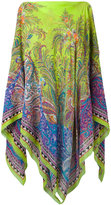 Etro botanical print poncho - women - Silk - One Size