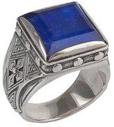 Konstantino Men's Hephaestus Sterling Silver & Lapis Ring