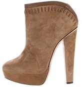 Jimmy Choo Suede Platform Booties