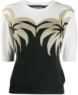 Boutique Moschino Palm Tree Knitted Top