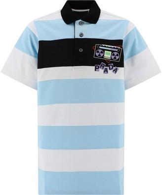 Prada Striped Polo Shirt
