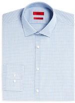 HUGO Mabel Small Broken Stripe Overcheck Sharp Fit - Regular Fit Dress Shirt