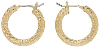 Laura Lombardi Gold Mini Etched Hoops