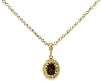 Vintouch Italy Luccichio Garnet Pendant Necklace