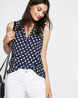 Express lemon print sleeveless shirt