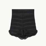 Maje Flounced high-waisted shorts