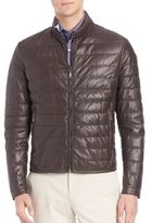 Saks Fifth Avenue Collection Quilted Leather Jacket