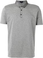 Lanvin satin collar polo shirt - men - Cotton/Viscose/Polyester - S