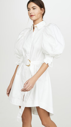 Aje Eucalypt Puff Sleeve Shirt Dress