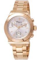 Salvatore Ferragamo 40.5mm 1898 Men's Chronograph Bracelet Watch, Gold/Silver