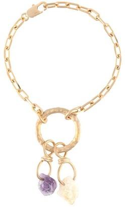 DSQUARED2 Gold Chain Link Crystal Bracelet
