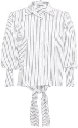 Stateside Striped Cotton-poplin Shirt