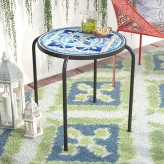 Hayley Stone/Concrete Side Table Lark Manor