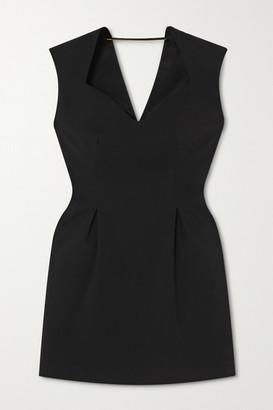 Versace Crepe Mini Dress - Black