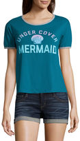 Fifth Sun Under Cover Mermaid Graphic T-Shirt- Junior