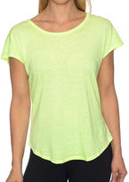 Betsey Johnson Heathered Cotton-Blend Tee