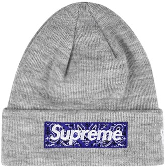 Supreme x New Era Bandana Box Logo beanie