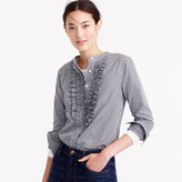 J.Crew Collection Thomas Mason® for gingham ruffle-front shirt