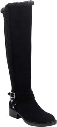 Sigerson Morrison Hardin Genuine Shearling Trim Knee High Boot