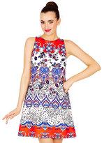 Betsey Johnson Betseys Mixed Print Shift Dress