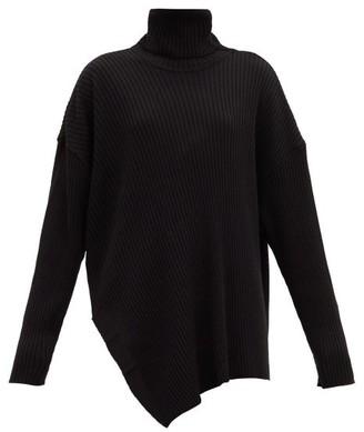 Marques Almeida Asymmetric Roll-neck Merino-wool Sweater - Black