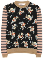 Marni Printed Silk-blend Top