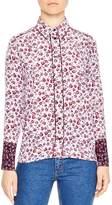 Sandro Lolita Floral-Print Silk Shirt