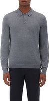 Theory Men's Anvers. New Sovereign Stretch-Wool Polo Sweater-GREY