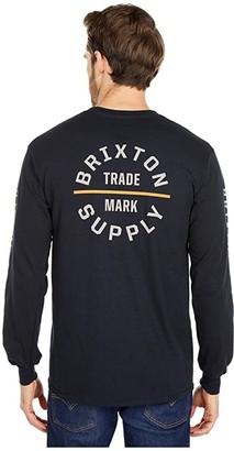 Brixton Oath VI Long Sleeve STT (Black) Men's Clothing
