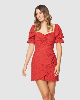 Pilgrim Women's Red Mini Dresses - Chika Mini Dress - Size One Size, 6 at The Iconic