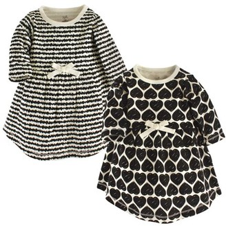 Touched By Nature Touched by Nature Organic Cotton Toddler Girl Long Sleeve Dresses, 2 pack