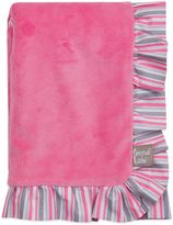 Trend Lab Lily Velour Ruffled Receiving Blanket in Pink