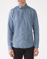 Garment Dye Twill Slim Placket Shirt
