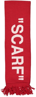 Off-White Red Synthetic Scarves & pocket squares