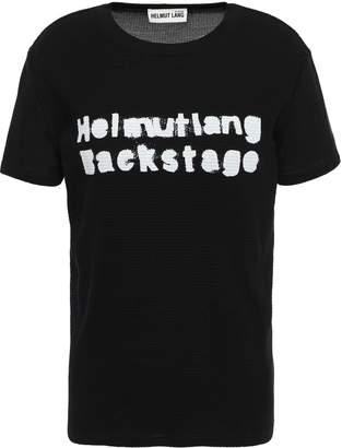 Helmut Lang Printed Waffle-knit Cotton-blend T-shirt