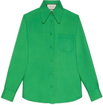 Gucci Silk twill shirt