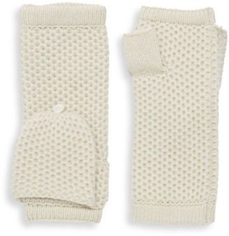 Portolano Flip-Top Fingerless Cashmere Mittens