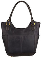 Tignanello As Is Glazed Vintage Leather North/ South Shopper