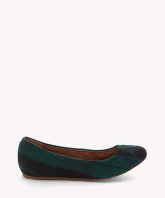 ED Ellen Degeneres Women's Langston Embroidered Ballet Flats Green/black/montauk Size 6 Leather From Sole Society