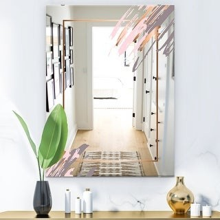 Design Art Designart Copper Minimal 1 Glam Bathroom Mirror Modern Vanity Mirror Shopstyle