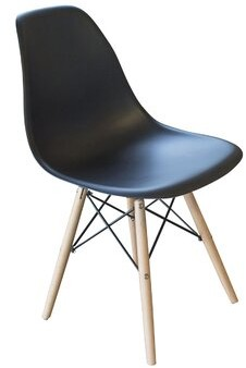 George Oliver Perkinson Scoop Seat Dining Chair Color: Black