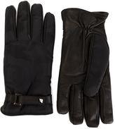 Valentino Garavani Valentino camouflage panelled gloves - men - Leather/Polyamide - 8