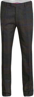 Etro Mulitolor Plaid Checked Wool Trousers L