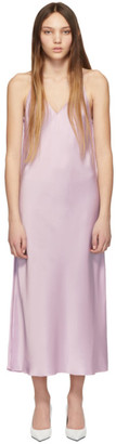 Helmut Lang Pink Raw Detail Slip Dress