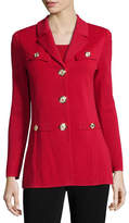 Misook Dressed Up Button-Front Jacket, Rose Water