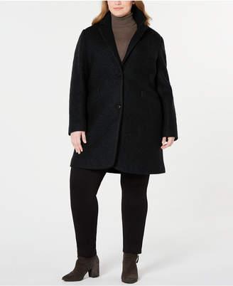 Andrew Marc Plus Size Paige Boucle Coat